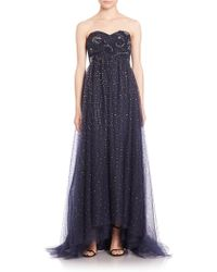 Notte by Marchesa | Sequined Tulle Gown | Lyst