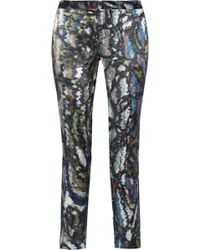 Theyskens' Theory Padgette Printed Silk Straightleg Pants - Lyst