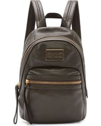 Marc By Marc Jacobs - Grey Leather Third Rail Backpack - Lyst