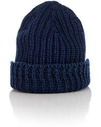 a24124e7e Knitted Hat In Compact Indigo - Blue