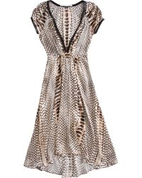 Twelfth Street Cynthia Vincent - Python Print Cap Sleeve Dress - Lyst