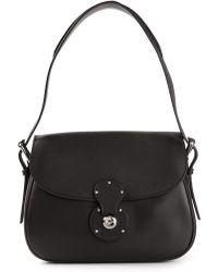 ef168e42a5c4 Ralph Lauren Black Label - Classic Saddle Bag - Lyst