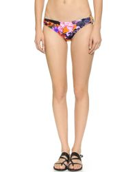 Milly Tropical Orchid Print Bikini Bottoms - Multi - Lyst