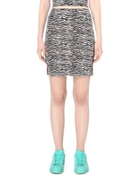 Illustrated People - Zebra Stretch-cotton Mini Skirt - Lyst