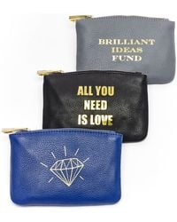 hayden-harnett All You Need Is Love Leather Pouch - Lyst