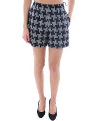 Carven Black Shorts Grigioblu - Lyst