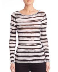 BCBGMAXAZRIA | Wylie Striped Jersey Top | Lyst