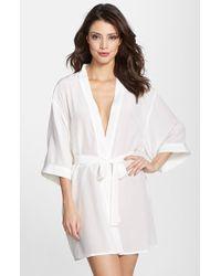 Mimi Holliday by Damaris 'Pelican' Silk Mini Dressing Gown - Lyst