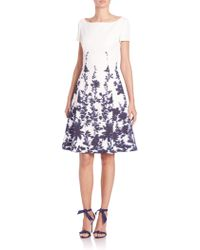 Carolina Herrera | Printed Cloque Dress | Lyst