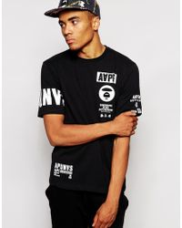 Aape By Bathing Ape T-Shirt With Sleeve Print - Lyst