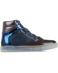 Balenciaga Metallic Leather High-Top Trainers - Lyst