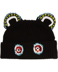 Markus Lupfer Monkey Ears Sequined Merino Wool Beanie - Lyst