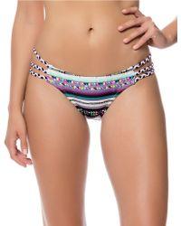 Jessica Simpson Santa Fe Strappy Braid Bikini Bottom - Black