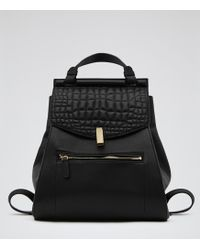 Reiss Alto Quilted Leather Rucksack - Lyst