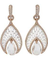 Inbar - Quartz Drop Mother Of Pearl Earrings - Lyst
