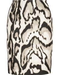 Diane von Furstenberg Mae Mikado Printed Wool And Silk-Blend Skirt - Lyst