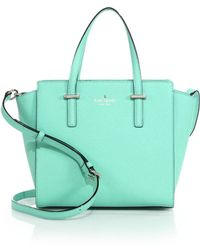Kate Spade Cedar Street Saffiano Leather Satchel green - Lyst