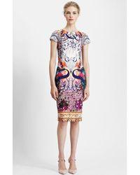 Mary Katrantzou Print Scuba Knit Sheath Dress - Lyst