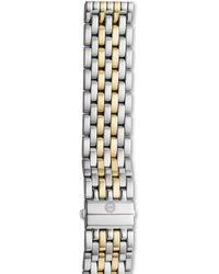 Michele Deco Xl Diamond Two-tone Watch Head  20mm Bracelet Strap - Metallic