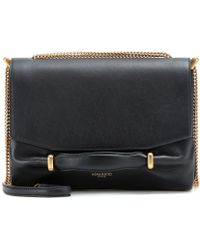 Nina Ricci Suede and Leather Shoulder Bag - Lyst