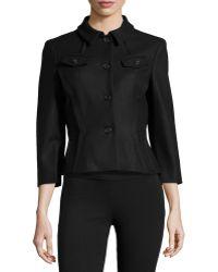 Michael Kors Contour-waist 34-sleeve Jacket - Lyst