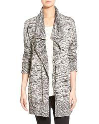 Eileen Fisher - Organic Cotton & Alpaca Sweater Jacket - Lyst