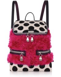 House of Holland The Backpack And Sack Pink Faux Fur - Lyst