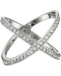 Michael Kors Brilliance Pave X Ring - Lyst