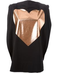 Vivienne Westwood Anglomania Heart Card Ruffled Top gold - Lyst