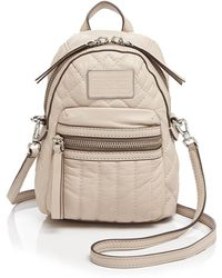 Marc By Marc Jacobs Domo Biker Quilted Mini Backpack Crossbody - Natural