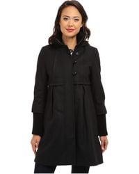 DKNY Hooded Babydoll Coat Y4 - Lyst