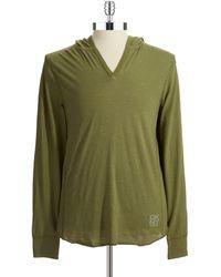 DKNY Hooded Long Sleeved Shirt - Lyst
