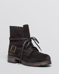 Jeffrey Campbell Ankle Boots  Ki Perforated Lace Up Combat - Lyst
