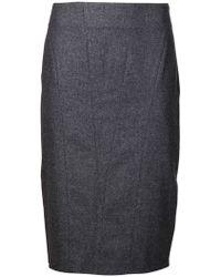 Brunello Cucinelli Panel Skirt - Lyst
