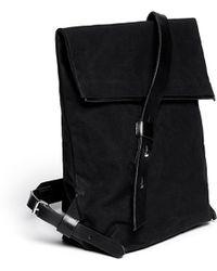 Seventy Eight Percent 'jurgen' Leather Canvas Backpack
