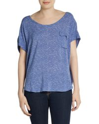 Splendid Flap Pocket Dolman Tee - Lyst