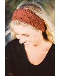 Elizabeth Koh - Twig Brown Knit Headband - Lyst