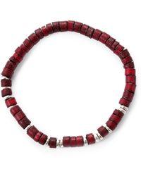Lulu Frost G. Frost Wooden Morse Bracelet Red - Lyst