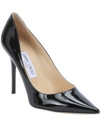 Jimmy Choo Black Patent Leather 'Abel' Pointed Toe Pumps - Lyst