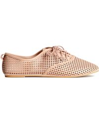 H&M Shoes With A Hole Pattern - Lyst