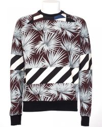 MSGM Cotton Sweatshirt With Palms Print black - Lyst