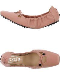 Tod's Ballet Flats - Lyst