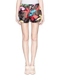 Valentino 'Camupsychedelic' Silk Running Shorts - Lyst
