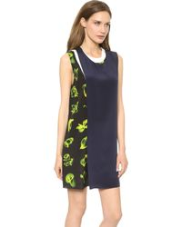3.1 Phillip Lim Layered Mix Print Dress Fluorescent Yellow - Lyst
