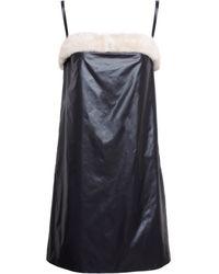 Christopher Kane Mink Trimmed Dress - Lyst