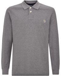 Paul Smith Classic Small Zebra Long Sleeve Polo Shirt - Lyst
