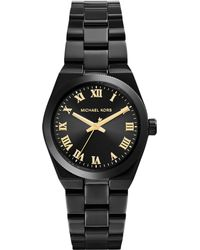 Michael Kors Womens Mini Channing Black Ion-plated Stainless Steel Bracelet Watch 33mm - Lyst