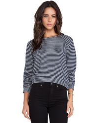 Textile Elizabeth And James Striped Perfect Sweatshirt - Lyst