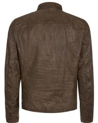 Ralph Lauren Black Label - Unlined Leather Jacket - Lyst