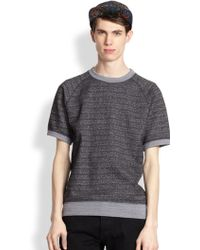 Marc By Marc Jacobs Speckled Short-Sleeved Sweatshirt - Lyst